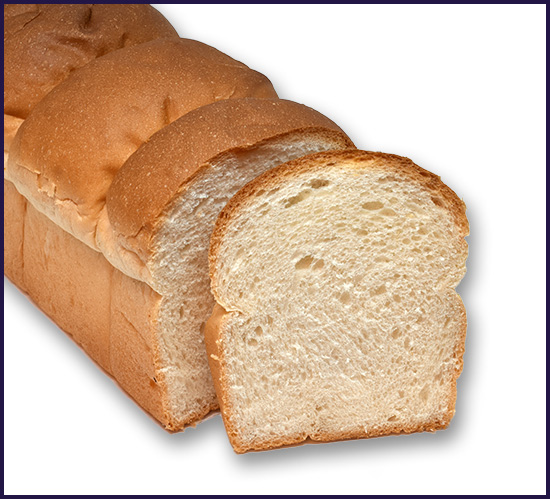 White bread 3 bun unsliced